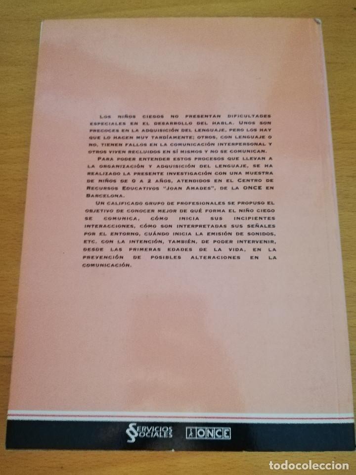 Libros de segunda mano: INICIACIÓN DEL LENGUAJE EN NIÑOS CIEGOS. UN ENFOQUE PREVENTIVO (VV. AA.) - Foto 6 - 174239259