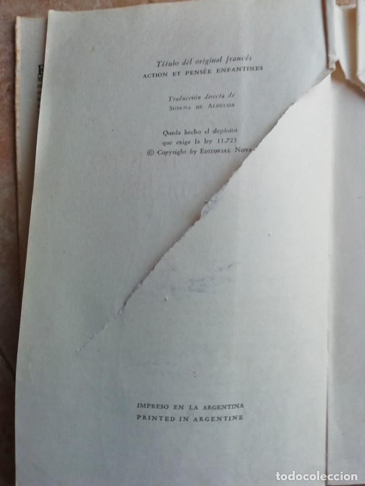 Libros de segunda mano: ACCIÓN Y PENSAMIENTO INFANTILES. EDMOND MICHAUD. 1959. - Foto 3 - 174416835