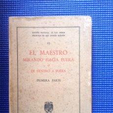Libros de segunda mano: EL MAESTRO MIRANDO HACIA FUERA O DE DENTRO A FUERA PRIMERA PARTE ANDRES MANJON OBRAS SELECTAS. Lote 175288578