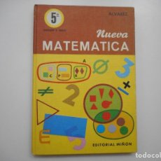 Livres d'occasion: ALVAREZ, CACHARRO, VIDAL, MACHO NUEVA MATEMÁTICA.LIBRO DE CONSULTA:QUINTO NIVEL Y95823. Lote 175589300