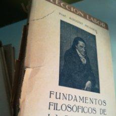 Libros de segunda mano: AUGUST MESSER FUNDAMENTOS FILOSÓFICOS DE LA PEDAGOGÍA. Lote 178285627
