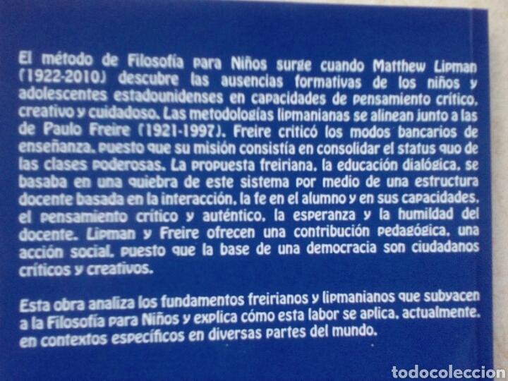 Libros de segunda mano: Filosofía para niños y capacitación democrática freiriana. José Barrientos Rastrojo - Foto 2 - 178641618
