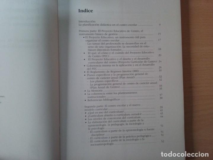 Libros de segunda mano: DEL PROYECTO EDUCATIVO A LA PROGRAMACIÓN DE AULA - S. ANTÚNEZ - L. M. DEL CARMEN - ANTONI ZABALA - Foto 4 - 179062582