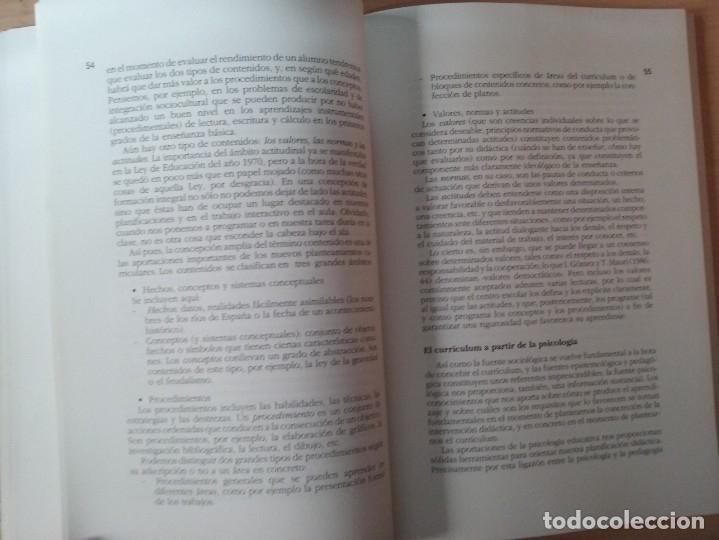 Libros de segunda mano: DEL PROYECTO EDUCATIVO A LA PROGRAMACIÓN DE AULA - S. ANTÚNEZ - L. M. DEL CARMEN - ANTONI ZABALA - Foto 8 - 179062582