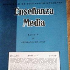 Libros de segunda mano: ENSEÑANZA MEDIA 1.961. MINISTERIO DE EDUCACIÓN NACIONAL. . Lote 179065101