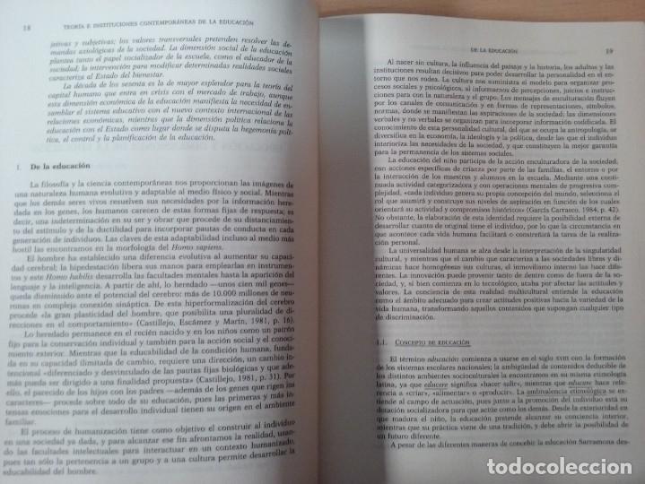 Libros de segunda mano: TEORIAS E INSTITUCIONES CONTEMPORANEAS - ANTONI J. COLOM - JOSÉ L. BERNABEU - EMILIA DOMÍNGEZ - Foto 7 - 179079703