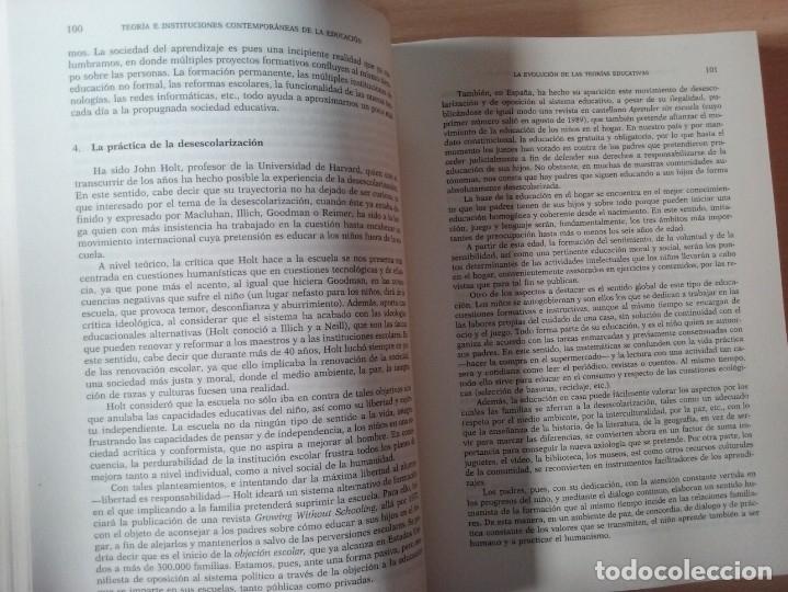 Libros de segunda mano: TEORIAS E INSTITUCIONES CONTEMPORANEAS - ANTONI J. COLOM - JOSÉ L. BERNABEU - EMILIA DOMÍNGEZ - Foto 10 - 179079703