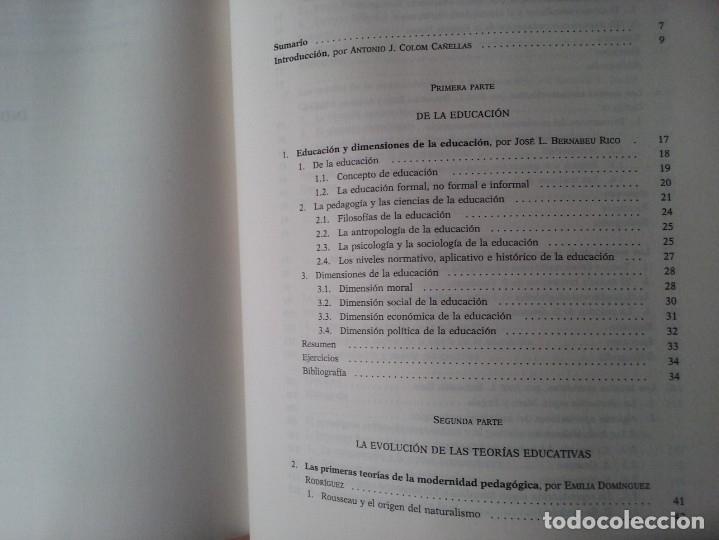 Libros de segunda mano: TEORIAS E INSTITUCIONES CONTEMPORANEAS - ANTONI J. COLOM - JOSÉ L. BERNABEU - EMILIA DOMÍNGEZ - Foto 15 - 179079703
