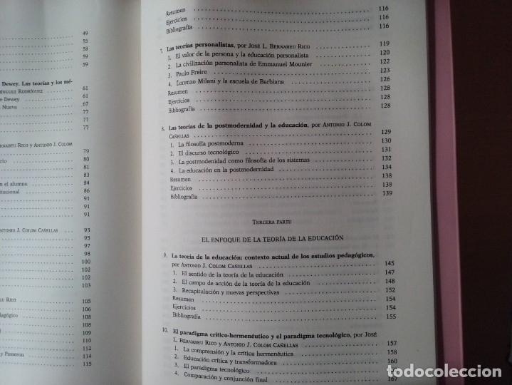 Libros de segunda mano: TEORIAS E INSTITUCIONES CONTEMPORANEAS - ANTONI J. COLOM - JOSÉ L. BERNABEU - EMILIA DOMÍNGEZ - Foto 17 - 179079703