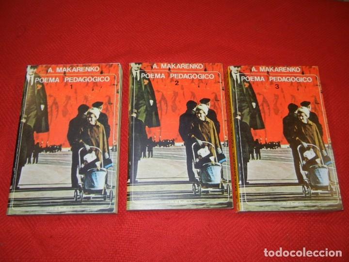 POEMA PEDAGOGICO, DE A.MAKARENKO - 3 VOLS. COMPLETA - AKAL EDITOR 1971 (Libros de Segunda Mano - Ciencias, Manuales y Oficios - Pedagogía)