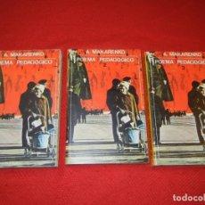Libros de segunda mano: POEMA PEDAGOGICO, DE A.MAKARENKO - 3 VOLS. COMPLETA - AKAL EDITOR 1971. Lote 180014911