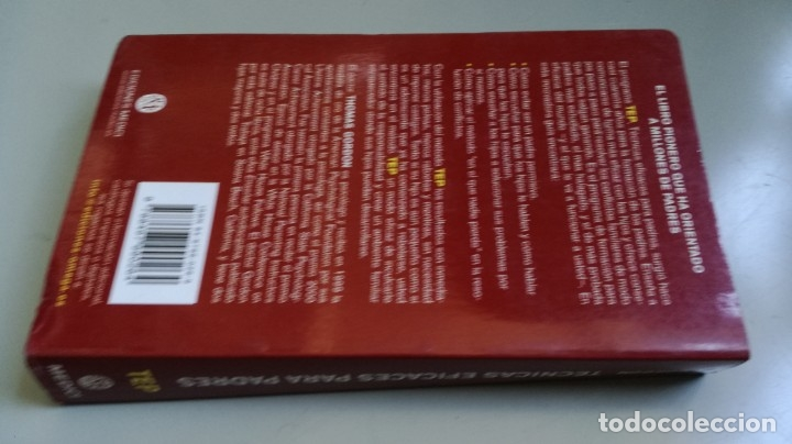 Libros de segunda mano: TEP TECNICAS EFICACES PARA PADRES - THOMAS GORDON - EFICAZ FORMAR NIÑOS RESPONSABLES - Foto 2 - 210699074