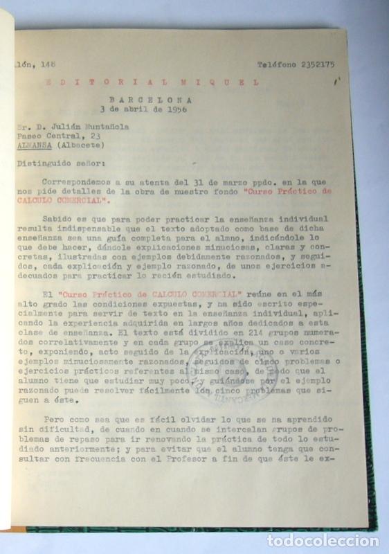 Libros de segunda mano: LIBRO Y CUADERNO DE PRACTICAS DE LA ACADEMIA MERCANTIL ANUNCIATA - AÑOS 50 - Foto 4 - 180431888