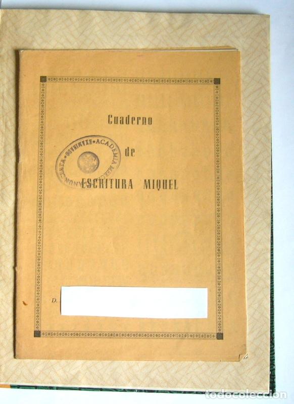LIBRO Y CUADERNO DE PRACTICAS DE LA ACADEMIA MERCANTIL ANUNCIATA - AÑOS 50 (Libros de Segunda Mano - Ciencias, Manuales y Oficios - Pedagogía)