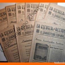 Libros de segunda mano: LA ESCUELA EN ACCION, SUPLEMENTO PEDAGÓGICO DE EL MAGISTERIO ESPAÑOL - CURSO 1952-1953. Lote 180500131