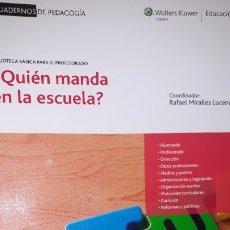 Libros de segunda mano: ¿QUIÉN MANDA EN LA ESCUELA? EDUCAR PROFESORADO DIRECCIÓN MATERIALES ALUMNADO MADRES CURRÍCULO REFORM. Lote 181909901