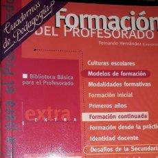 Libros de segunda mano: MODELOS DE FORMACIÓN CONTINUADA DESAFÍOS EN SECUNDARIA CUADERNOS PEDAGOGÍA BIBLIOTECA BÁSICA PROFESO. Lote 181943388