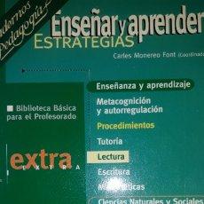 Libros de segunda mano: ENSEÑAR Y APRENDER ESTRATEGIAS LECTURA CIENCIAS NATURALES Y SOCIALES CUADERNOS PEDAGOGÍA BIBLIOTECA. Lote 181943900