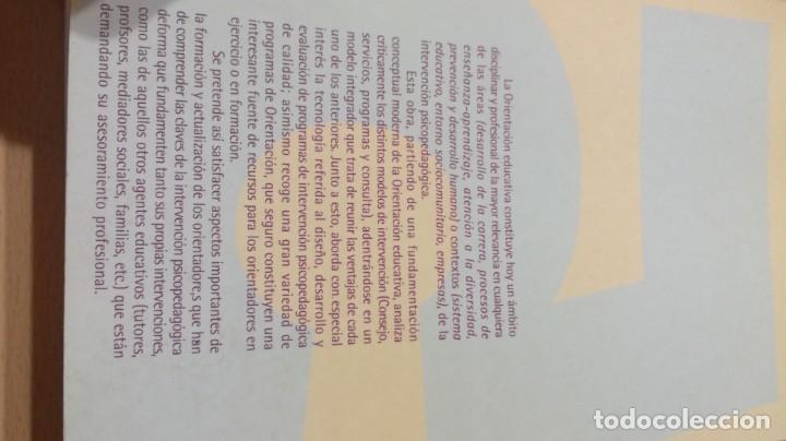 Libros de segunda mano: ORIENTACION E INTERVENCION PSICOPEDAGOGICA - CONSUELO VELAZ - CONCEPTO MODELOS PROGRAMAS EVALUACION - Foto 3 - 182088720