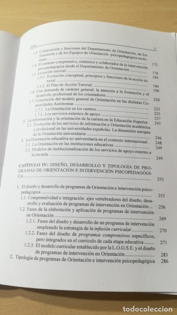 Libros de segunda mano: ORIENTACION E INTERVENCION PSICOPEDAGOGICA - CONSUELO VELAZ - CONCEPTO MODELOS PROGRAMAS EVALUACION - Foto 8 - 182088720