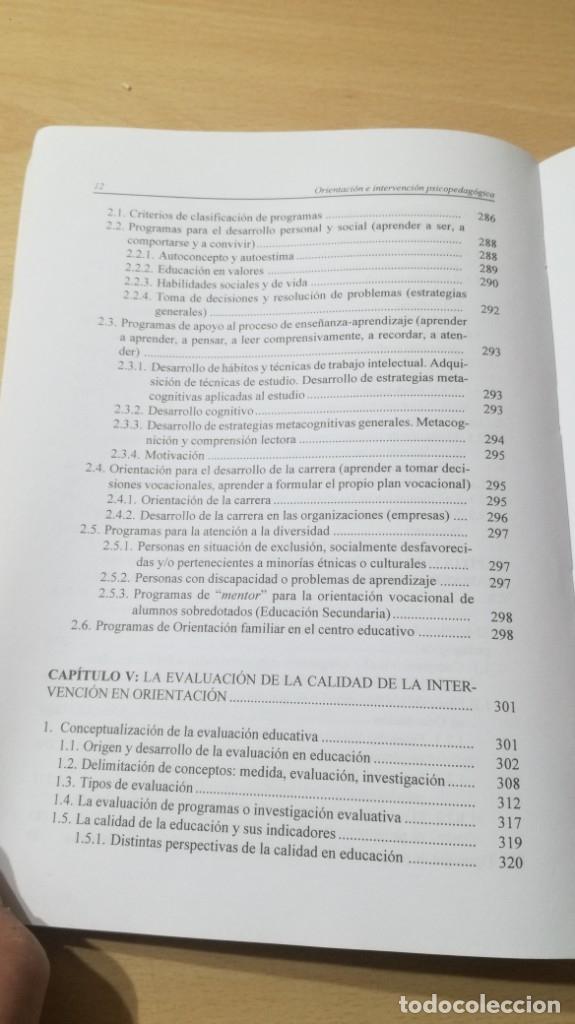 Libros de segunda mano: ORIENTACION E INTERVENCION PSICOPEDAGOGICA - CONSUELO VELAZ - CONCEPTO MODELOS PROGRAMAS EVALUACION - Foto 9 - 182088720