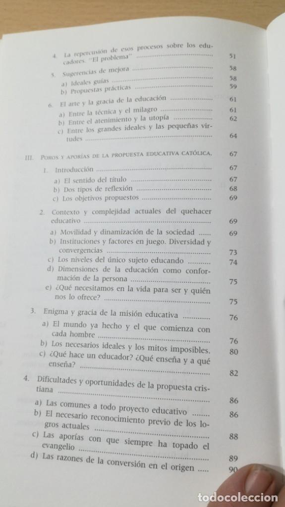 Libros de segunda mano: EDUCACION Y EDUCADORES - O GONZALEZ DE CARDEDAL - PRIMER PROBLEMA MORAL EUROPA/ B703 - Foto 9 - 182089982