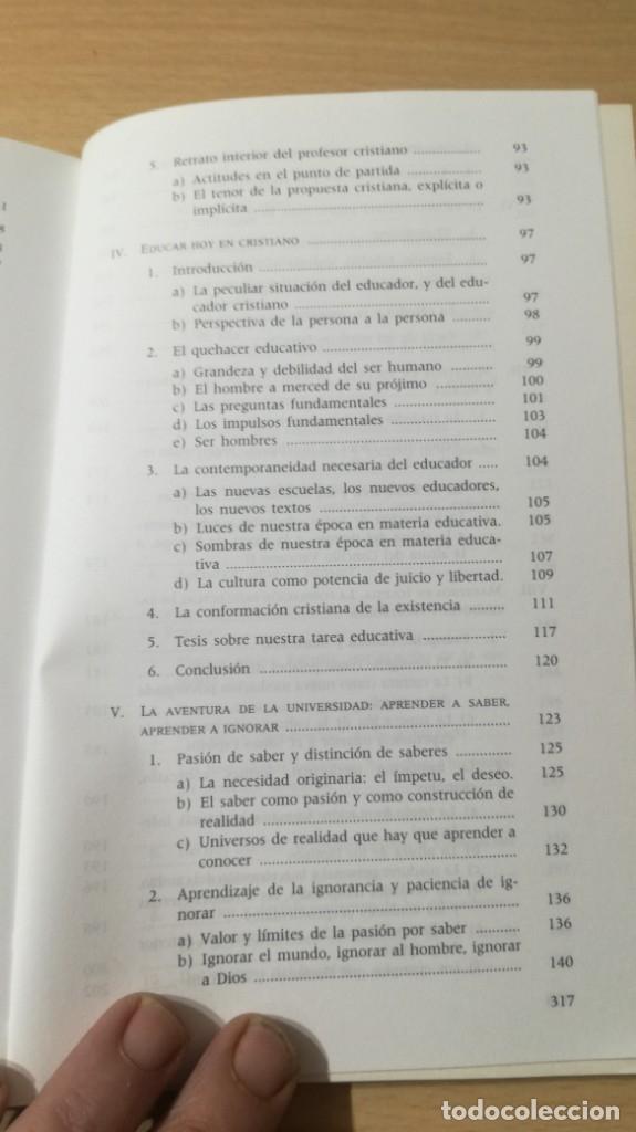 Libros de segunda mano: EDUCACION Y EDUCADORES - O GONZALEZ DE CARDEDAL - PRIMER PROBLEMA MORAL EUROPA/ B703 - Foto 10 - 182089982