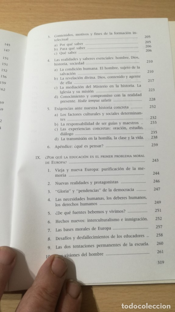 Libros de segunda mano: EDUCACION Y EDUCADORES - O GONZALEZ DE CARDEDAL - PRIMER PROBLEMA MORAL EUROPA/ B703 - Foto 12 - 182089982