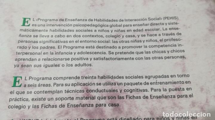 Libros de segunda mano: PROGRAMA DE ENSEÑANZA DE HABILIDADES DE INTEGRACION SOCIAL PEHIS - INES MONJAS CASARES / LL304 - Foto 4 - 197516370