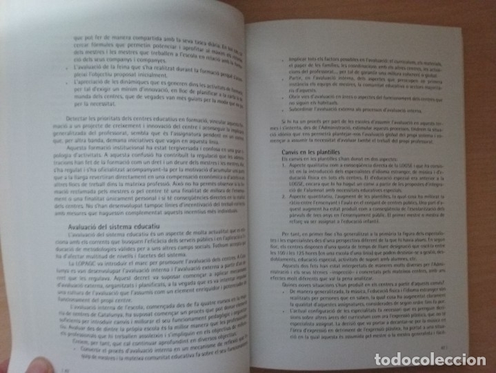 Libros de segunda mano: LEDUCACIÓ PRIMARIA: REPTES, DILEMES I PROPOSTES - JOAN DOMÈNECH - SUSANNA ARÀNEGA - Foto 6 - 182912401