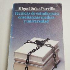 Libros de segunda mano: TÉCNICAS DE ESTUDIO PARA ENSEÑANZAS MEDIAS Y UNIVERSIDAD (MIGUEL SALAS PARRILLA) ALIANZA EDITORIAL. Lote 183040975