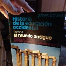 Libros de segunda mano: JAMES BOWEN, HISTORIA DE LA EDUCACIÓN OCCIDENTAL, TOMO I, HERDER 1985. Lote 183281981