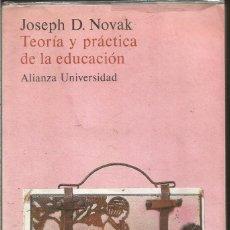 Libros de segunda mano: JOSEPH D. NOVAK. TEORIA Y PRACTICA DE LA EDUCACION. ALIANZA UNIVERSIDAD. Lote 183483725