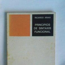 Libros de segunda mano: PRINCIPIOS DE SINTAXIS FUNCIONAL. Lote 183620960