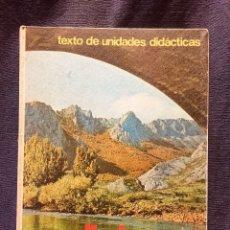 Libros de segunda mano: TEXTO DE UNIDADES DIDÁCTICAS DIPLOMA PRIMER CURSO SANTILLANA FAMILIA VESTIDO 1968. Lote 184608442