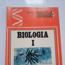Libros de segunda mano: MANUALES DE ORIENTACION UNIVERSITARIA. BIOLOGIA I.- D.F. GALIANO. ANAYA. Lote 184777915