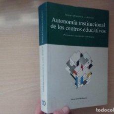 Libros de segunda mano: ANATONOMIA INSTITUCIONAL DE LOS CENTROS EDUCATIVOS (INSTITUTO DE CIENCIAS DE LA EDUCACIÓN) (DEUSTO). Lote 184789210