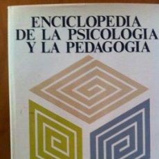 Libros de segunda mano: ENCICLOPEDIA DE LA PSICOLOGÍA Y LA PEDAGOGÍA. TOMO I. ED. SEDMAY-LIDIS. 1.980. Lote 189418773