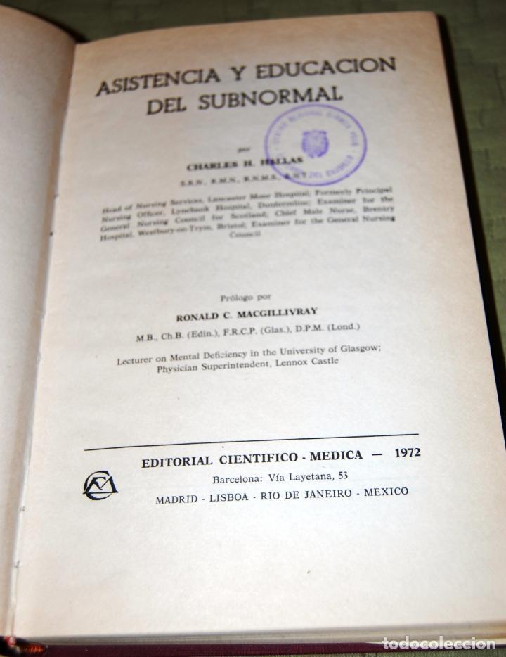 Libros de segunda mano: Asistencia y educación del subnormal, de Charles H. Hallas. - Foto 4 - 191152618