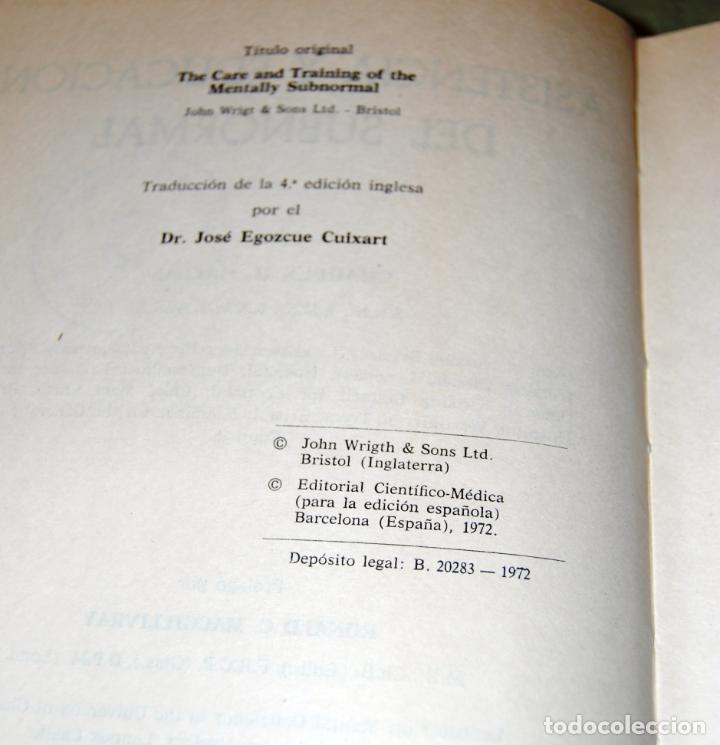 Libros de segunda mano: Asistencia y educación del subnormal, de Charles H. Hallas. - Foto 5 - 191152618