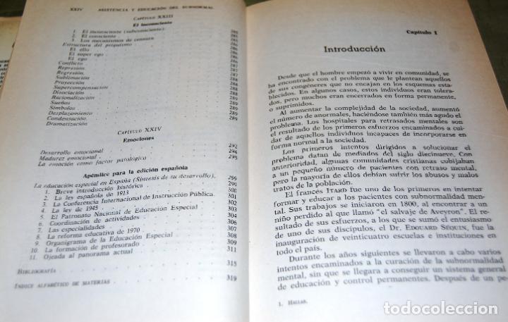 Libros de segunda mano: Asistencia y educación del subnormal, de Charles H. Hallas. - Foto 13 - 191152618