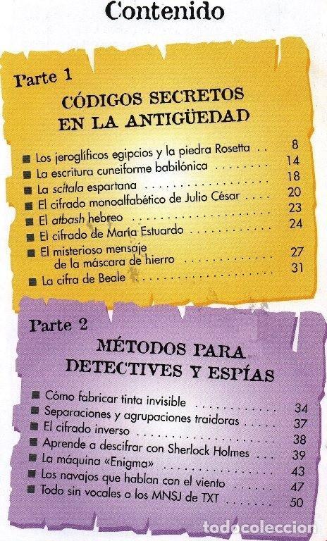 Libros de segunda mano: EL ENIGMA DE LOS CODIGOS SECRETOS. DETECTIVES. ESPIAS. AVENTUREROS. INCLUYE EJERCICIOS Y SOLUCIONES. - Foto 7 - 191289437