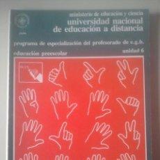 Libros de segunda mano: LA PERSONALIDAD EN LA EDAD PREESCOLAR - ESPECIALIZACIÓN PROFESORADO E.G.B. - UNED, 1980 - UNIDAD 6. Lote 191855511