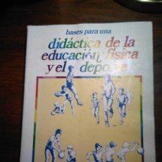 Libros de segunda mano: BASES PARA UNA DIDÁCTICA DE LA EDUCACIÓN FÍSICA Y EL DEPORTE. SANCHEZ BAÑUELOS, GIMNOS. Lote 193337825