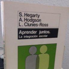 Libri di seconda mano: APRENDER JUNTOS LA INTEGRACIÓN ESCOLAR - HEGARTY / HODGSON / CLUNIES-ROSS. Lote 195774031