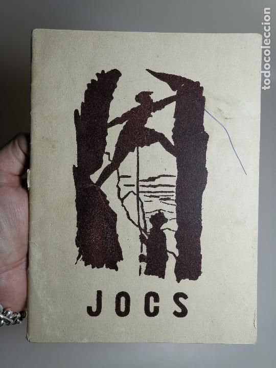 JOCS EN CATALÁN .JUEGOS PARA SCOUTS ESCOLTES.CAMPAMENTOS.1954 BARCELONA (Libros de Segunda Mano - Ciencias, Manuales y Oficios - Pedagogía)