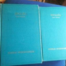 Libros de segunda mano: INGLÉS ESCUELAS INTERNACIONALES MÉTODO MODERNO DE IDIOMAS TAPA DURA. Lote 198928550