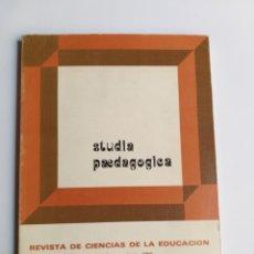 Libros de segunda mano: STUDIA PAEDAGOGICA . REVISTA DE CIENCIAS DE LA EDUCACIÓN 1985 N. 5. . PEDAGOGÍA. Lote 207116402