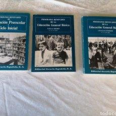 Libros de segunda mano: PROGRAMAS RENOVADOS DE EDUCACION PREESCOLAR Y, CICLO INICIA,CICLO MEDIO Y SUPERIOR.3 VOLS. PEDAGOGÍA. Lote 207159645
