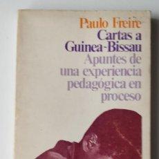Libros de segunda mano: CARTAS A GUINEA-BISSAU ** PAULO FREIRE. Lote 207755637